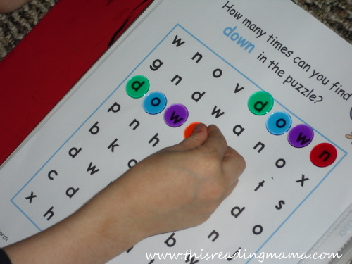 photo of sight word search for preschoolers | This Reading Mama