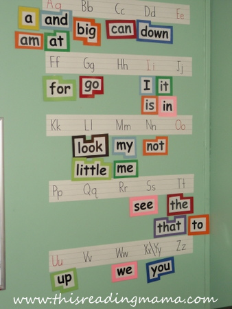 photo of Word Wall for Reading the Alphabet | This Reading Mama