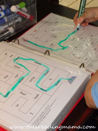 sight word mazes for preschoolers | This Reading Mama