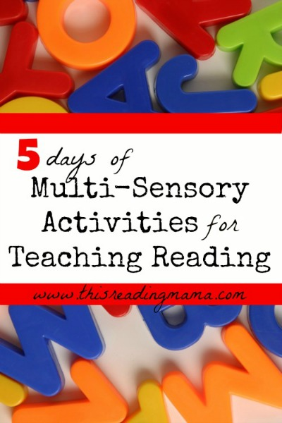 5 Days of Multi-Sensory Activities for Teaching Reading | This Reading Mama