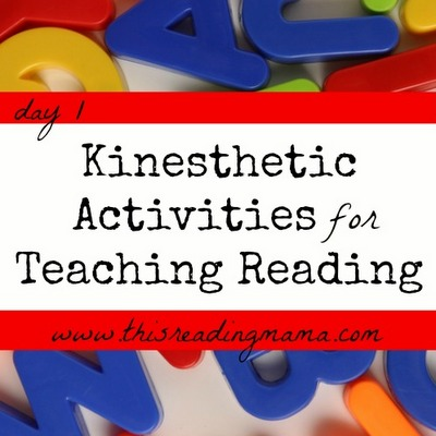 Kinesthetic Activities for Teaching Reading | This Reading Mama