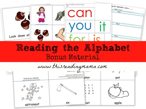 Reading the Alphabet Bundle Pack