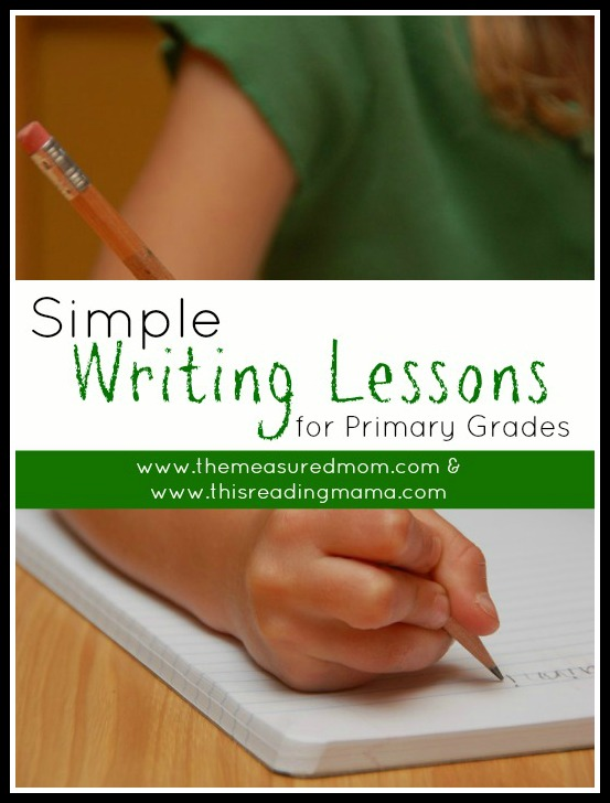 Simple Writing Lessons for Primary Grades | This Reading Mama