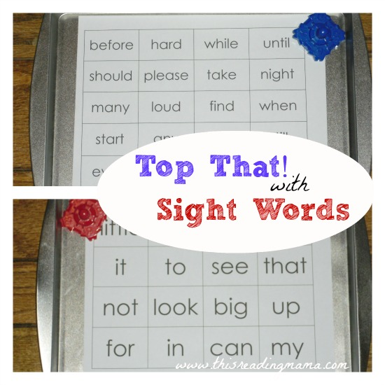 Top That! with Sight Words