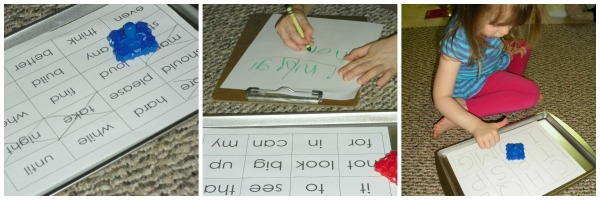 top that sight words collage