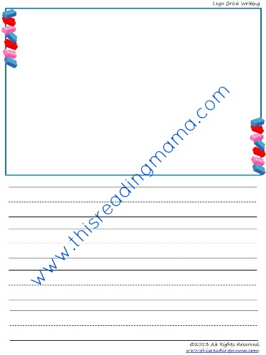 Lego Brick Writing Paper | This Reading Mama