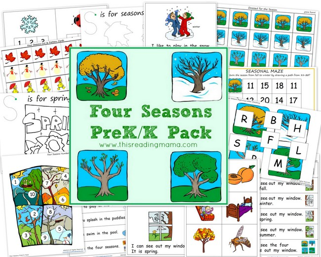 FREE Four Seasons PreK/K Pack | This Reading Mama