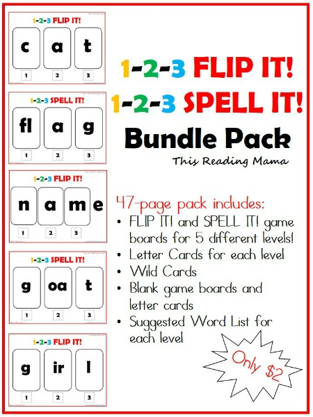 1-2-3 Flip it and Spell it Bundle Pack | This Reading Mama