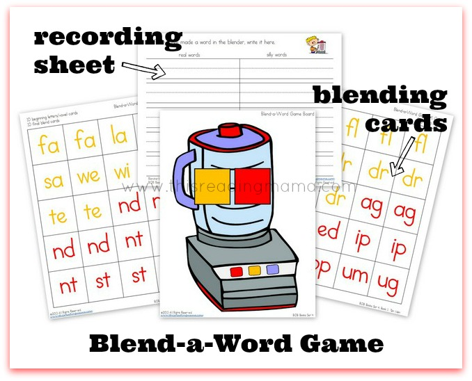 Blend-a-Word Game for reading and write words with blends | This Reading Mama