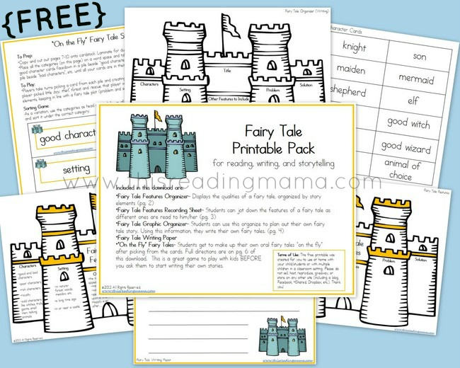 free fairy tale printable pack this reading mama