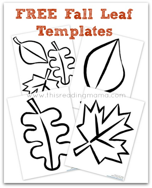 Natural fall leaf collages free printable included free fall leaf templates this reading mama thecheapjerseys Image collections