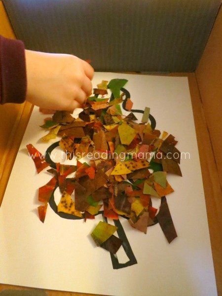 Natural Leaf Collages | This Reading Mama