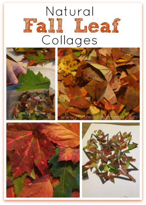 Natural Fall Leaf Collages {Free Printable Included} | This Reading Mama