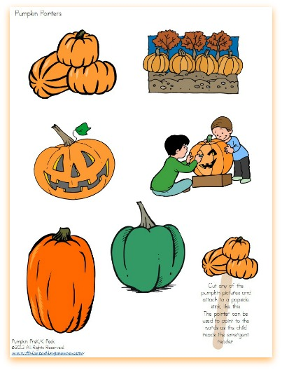 FREE Pumpkin-Themed Pointers for Reading | This Reading Mama