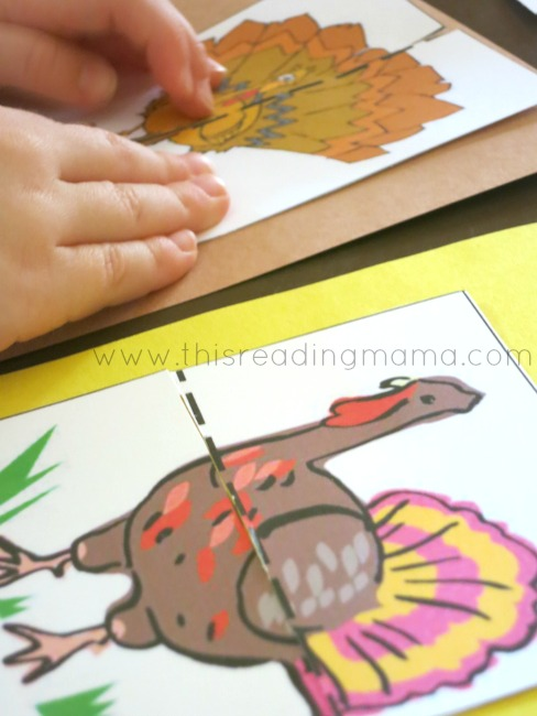 glue down simple puzzles | This Reading Mama