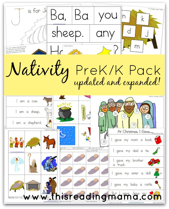 FREE Nativity PreK/K Pack {Updated and Expanded} | This Reading Mama