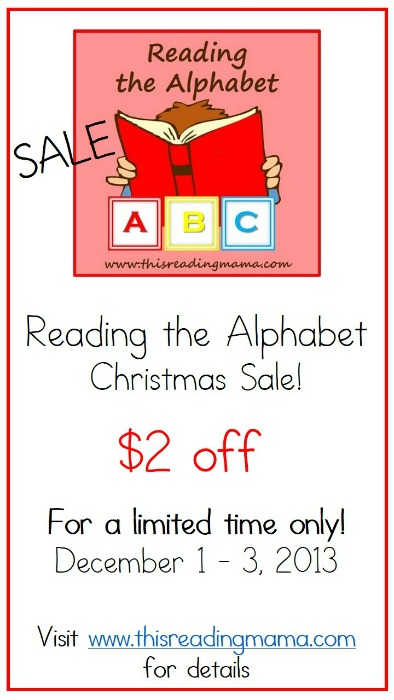 Reading the Alphabet Bundle Pack Christmas Sale | This Reading Mama