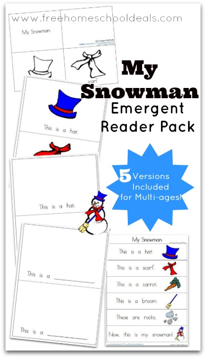 FREE Snowman Emergent Reader Pack | Free Homeschool Deals