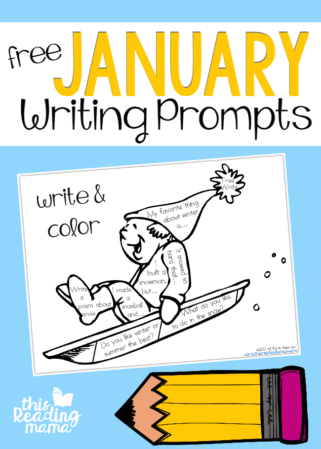 free january writing prompts write and color this reading mama