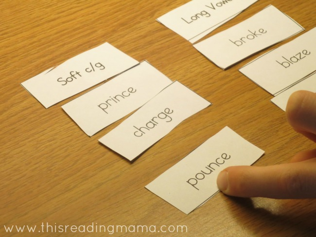 Silent e Word Sort | This Reading Mama