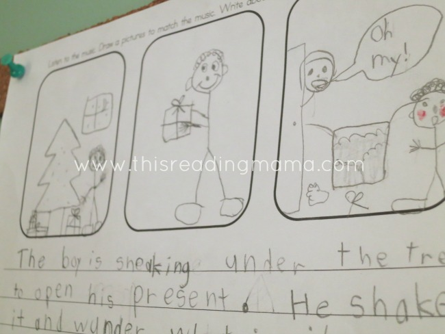 drawing pictures to match the music | This Reading Mama