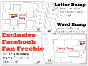 Exclusive Facebook Fan Freebie (Letter and Word Bump) | This Reading Mama