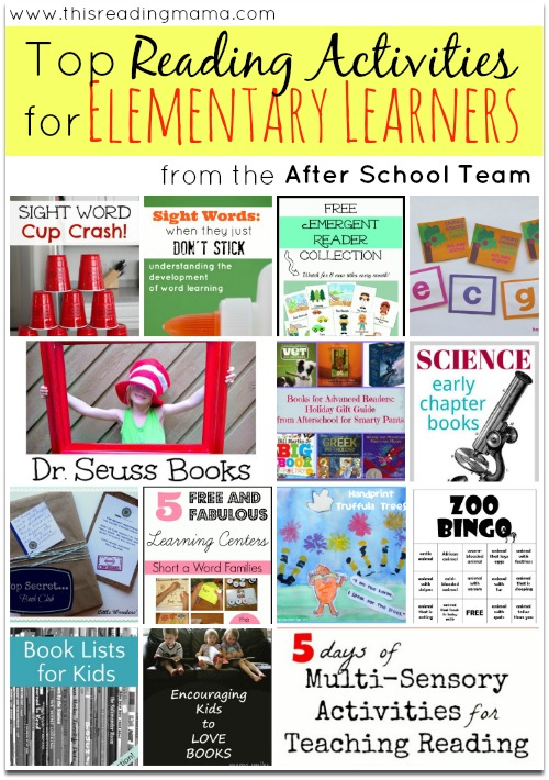 Top Reading Activities for Elementary Learners (from the After School Team) | This Reading Mama