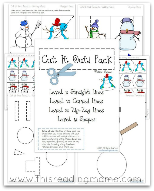 FREE Cutting Practice Pack {Winter Cut it Out!} | This Reading Mama