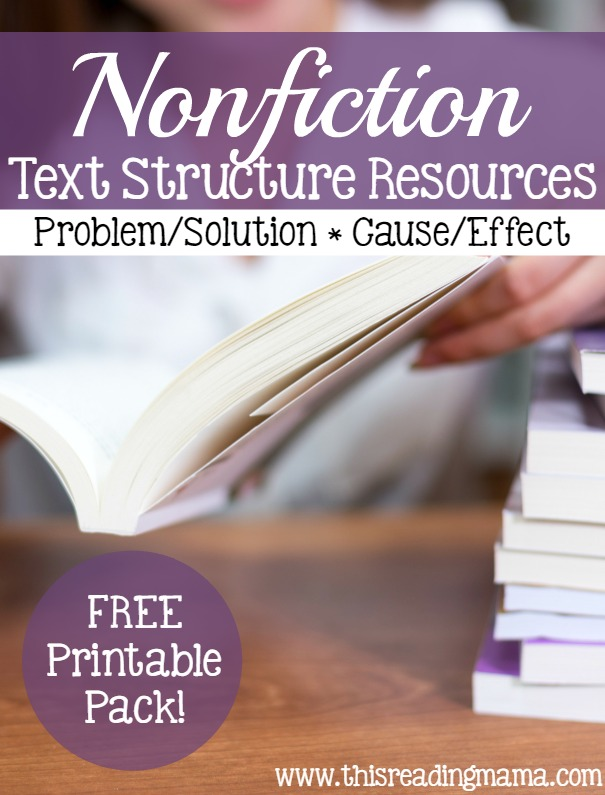 Non fiction text structure problemsolution and comparecontrast nonfiction text structure resources problem solution and cause effect this reading mama ibookread Download