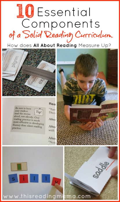 10 Essential Components of a Solid Reading Curriculum {All About Reading Review} | This Reading Mama