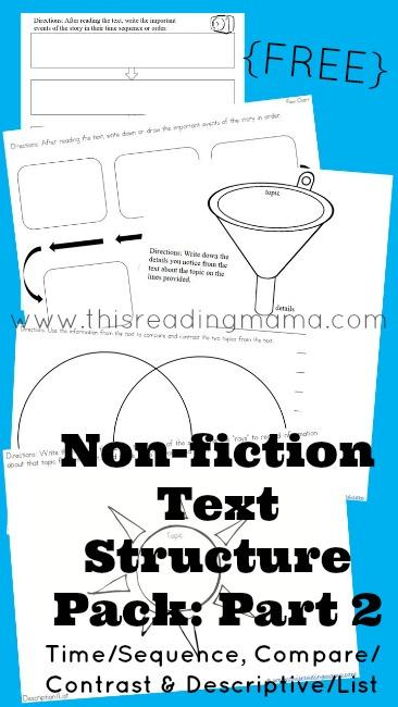 More Non Fiction Text Structure Resources