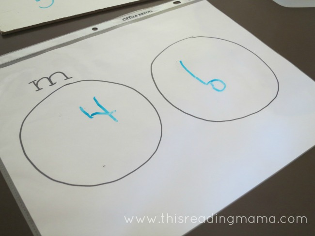counting m & m candy and writing numbers | This Reading Mama