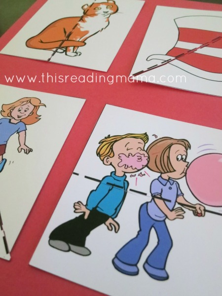 cut out the pictures and match like puzzles | This Reading Mama