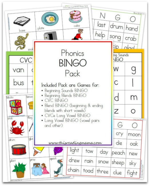 Phonics BINGO Bundle Pack from This Reading Mama