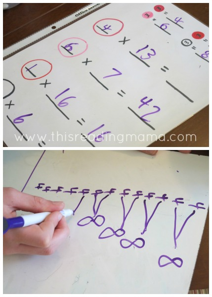 using m & m candy to practice multiplication | This Reading Mama