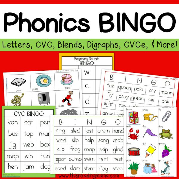 Phonics bingo pack this reading mama phonics bingo pack spiritdancerdesigns Choice Image