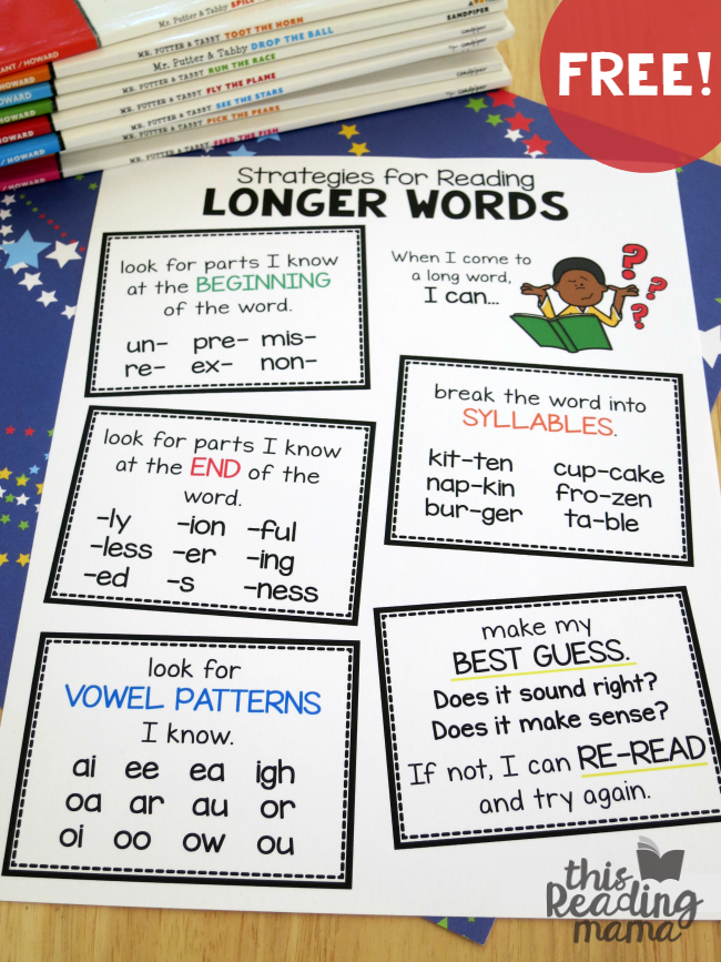 Strategies for reading longer words free strategies for reading longer words pack updated this reading mama ibookread