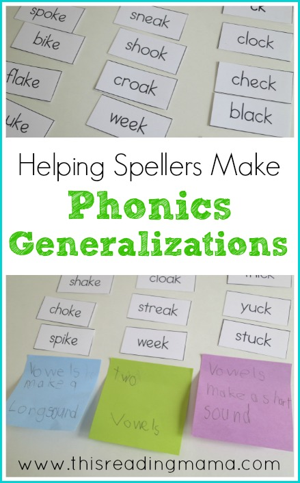 Helping Spellers Make Phonics Generalizations | This Reading Mama