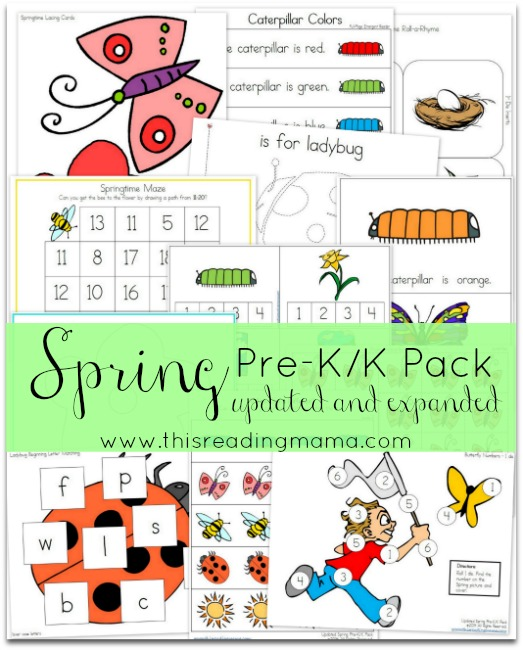 FREE Spring Pre-K/K Pack ~ Updated and Expanded | This Reading Mama