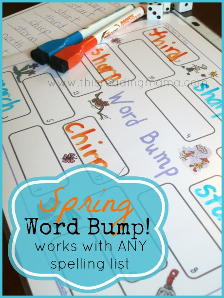 FREE Phonics Game for Spring (Word Bump!)   This Reading Mama