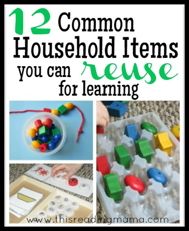12 Common Household Items You Can Reuse for Learning by This Reading Mama
