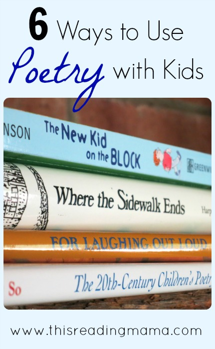 6 ways to use poetry with kids | This Reading Mama