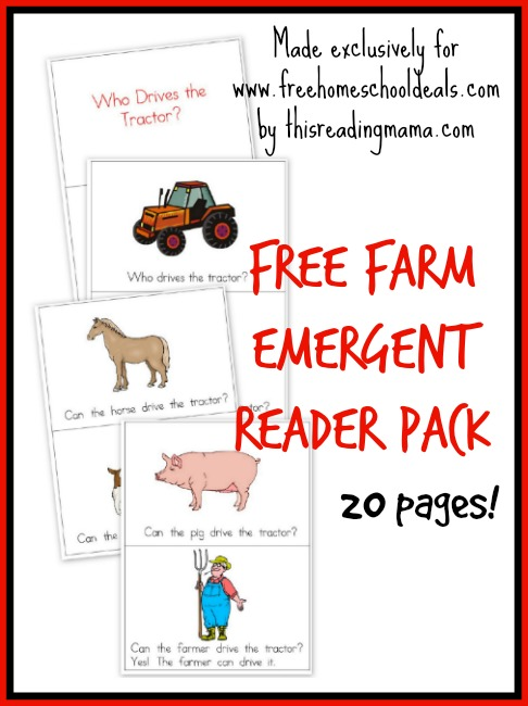 Free Farm Emergent Reader Pack