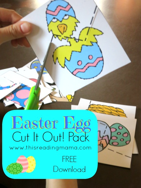 Easter Egg Fine Motor Work {Cut it Out! Pack}