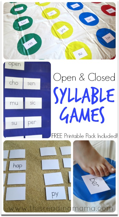 Open and Closed Syllable Games This Reading Mama