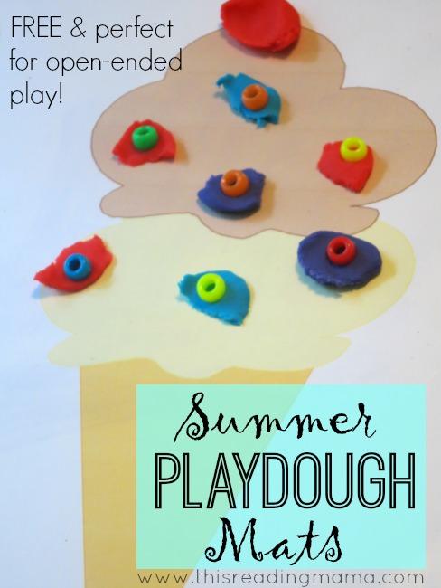 FREE Summer Playdough Mats ~ This Reading Mama