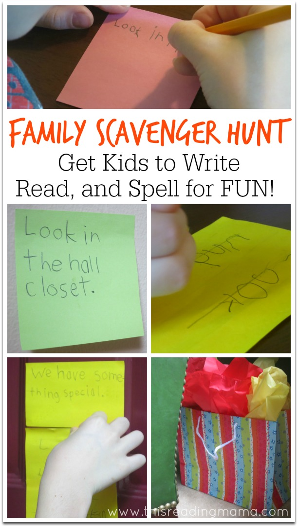 Family Scavenger Hunt- Writing, Reading, and Spelling FUN - This Reading Mama
