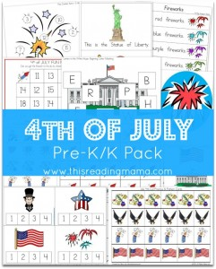 Free 4th of July Learning Pack {for Pre-KK} - This Reading Mama