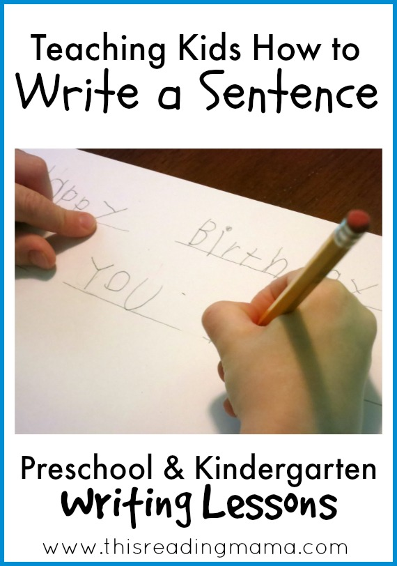 Teaching kids how to write a sentence {Weekend Links from HowToHomeschoolMyChild.com}