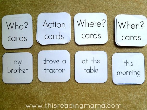 Writing Sentences: A Roll and Write Activity